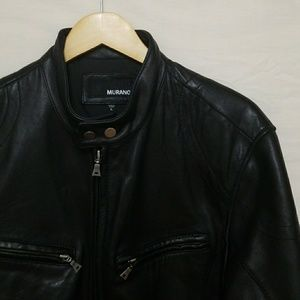 Murano Lambskin Leather Jacket L